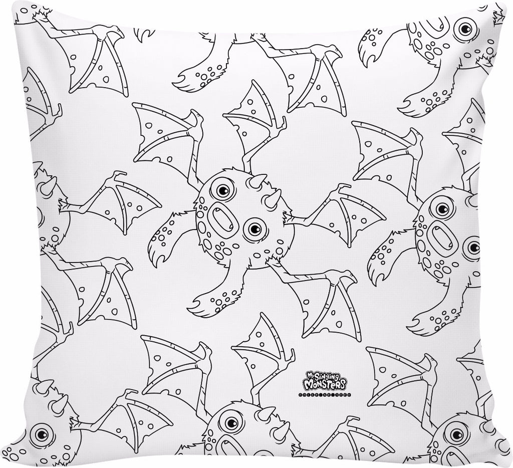 My Singing Monsters: Coloring Book Grumpyre Pillow