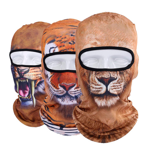 Exotic Animal Face Ski Masks