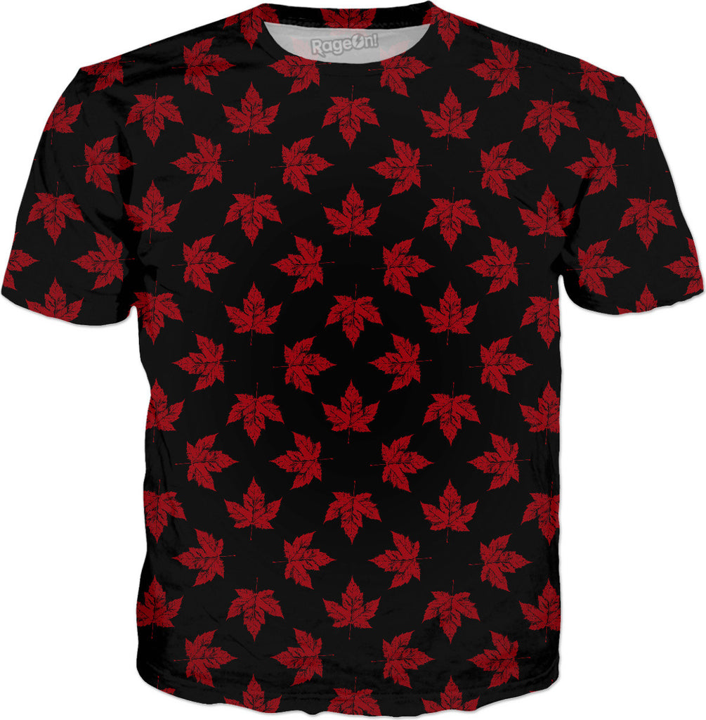 Cool Canada Maple Leaf T-shirts Black