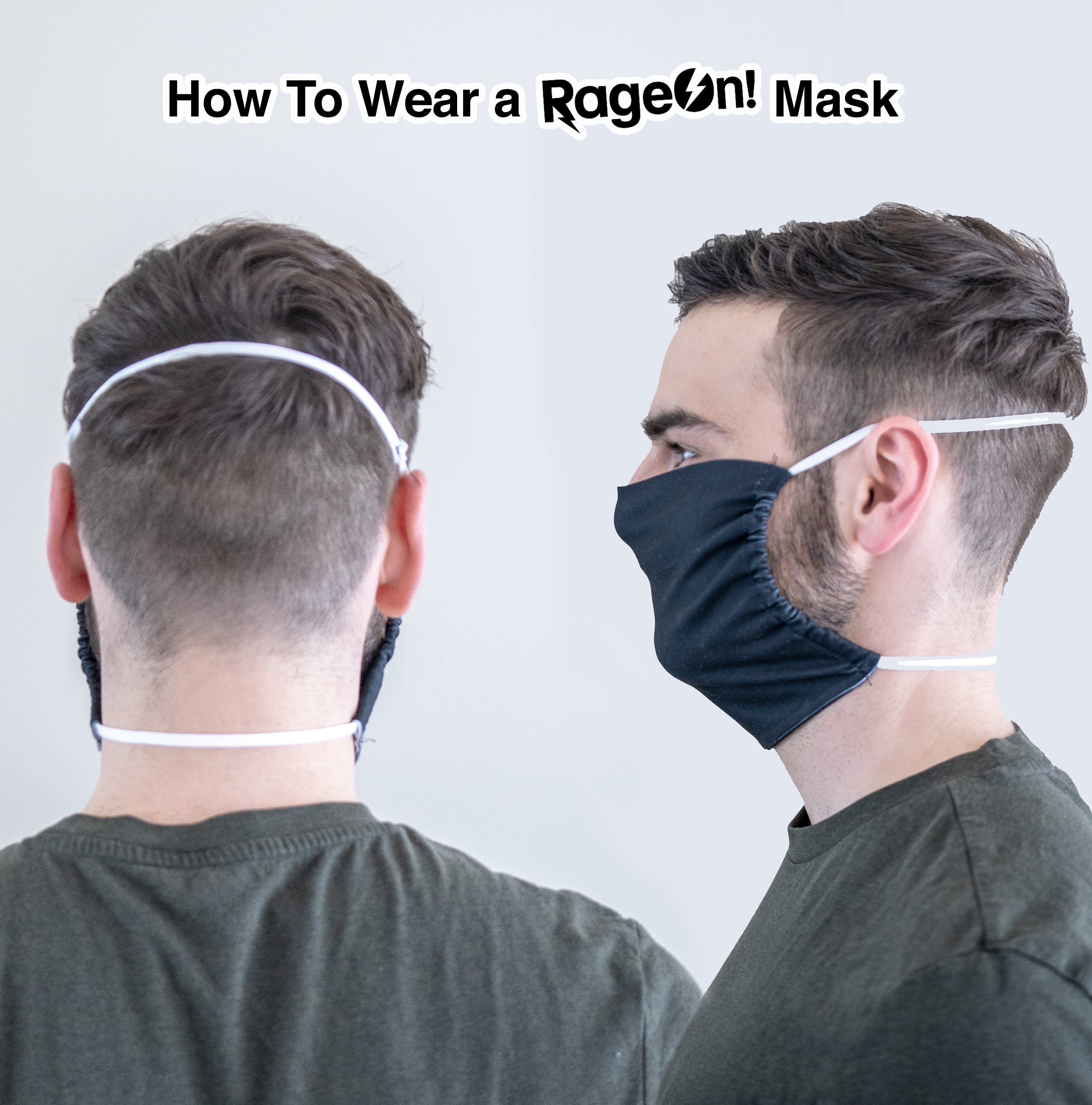 How to wear a RageOn facemask