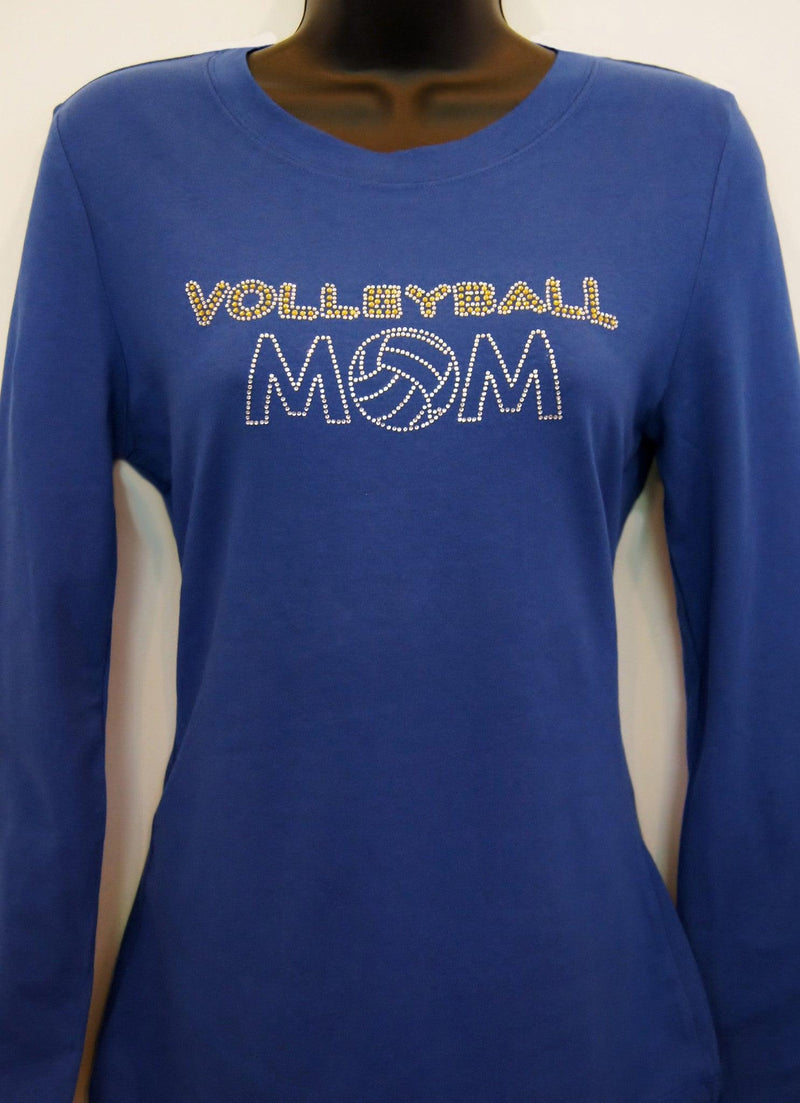 54d46f7bd3c3 Volleyball Mom Rhinestone T Shirts – EDGE Engineering and Consulting ...