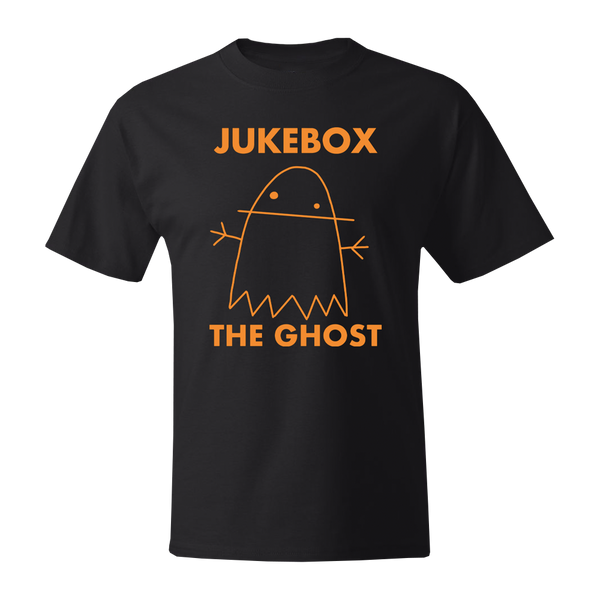 Orange Ghostie Logo Black Tee