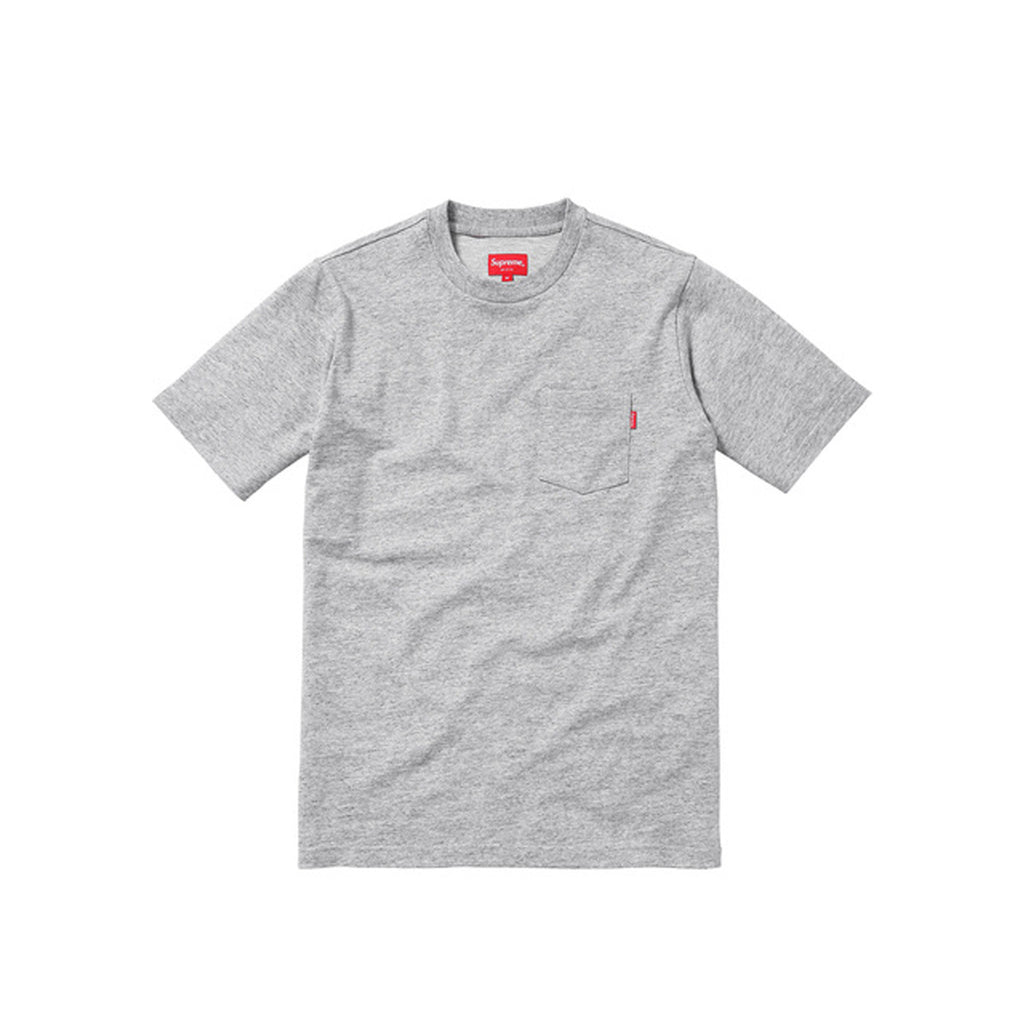 Supreme s/s Pocket Tee - Pocket Tee by SUPREME. Color Heather Grey Size: Medium & Large