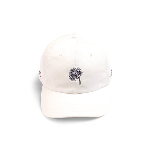 10 Deep Die Alone Embroidered Dad Hat Off White
