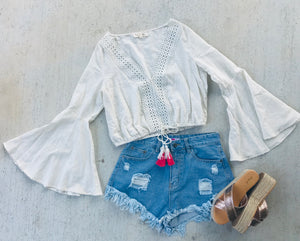 Boho Crop Top-CREAM
