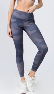 Blue/Grey Tones-Camo Leggings