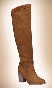 Over the Knee Boot-CHESNUT