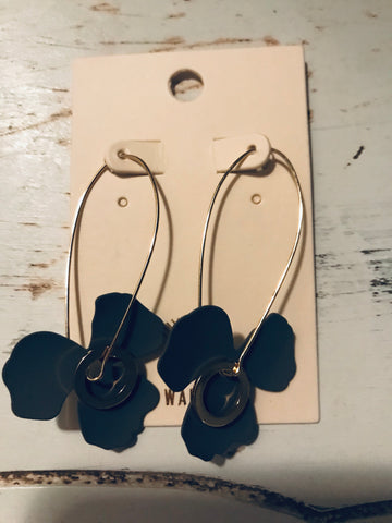 Flower Earrings-GREY