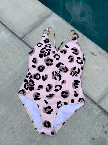 Cheetah One Piece Swim