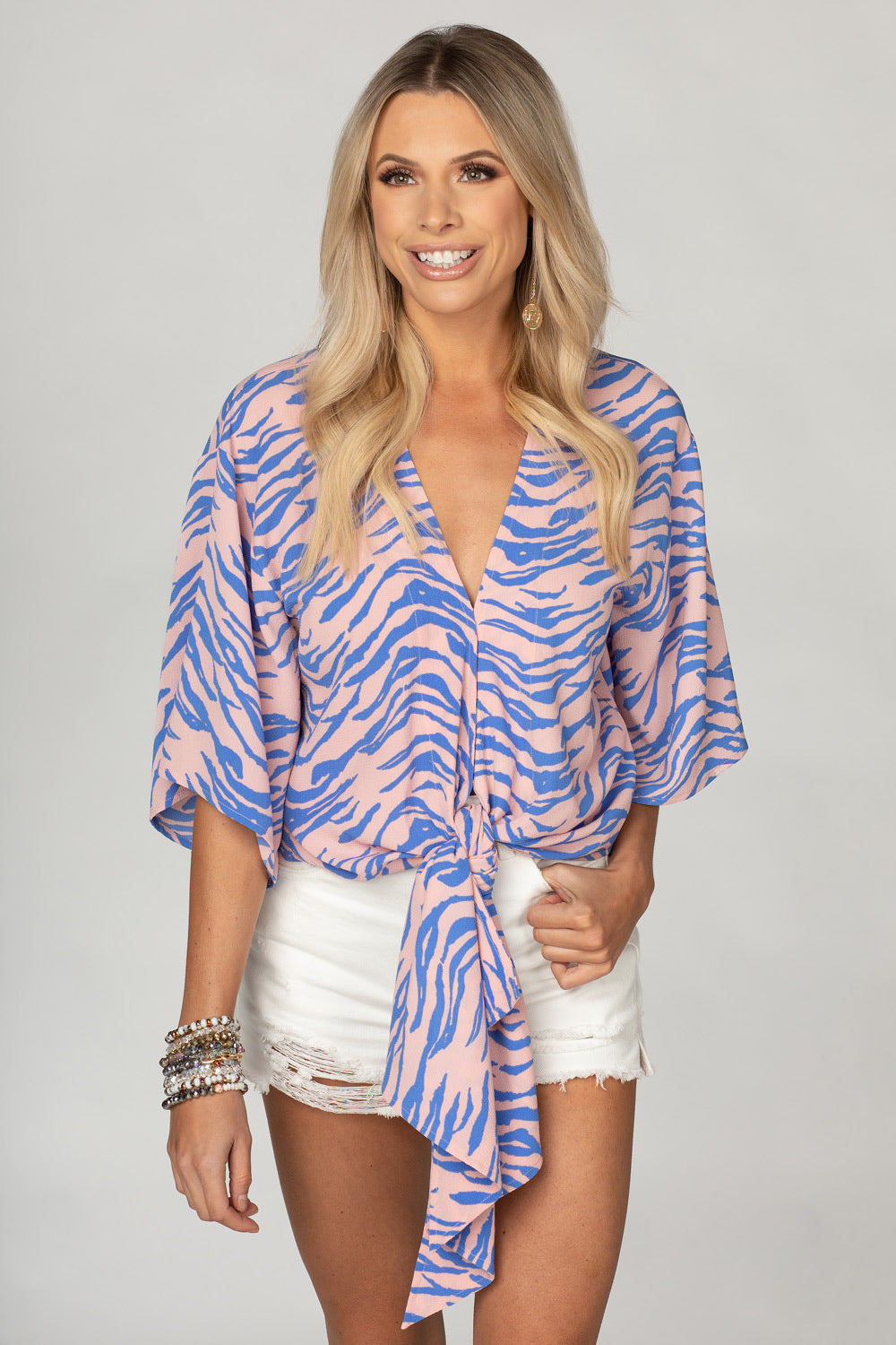 Buddy Love Muse Top in Tiger Blue