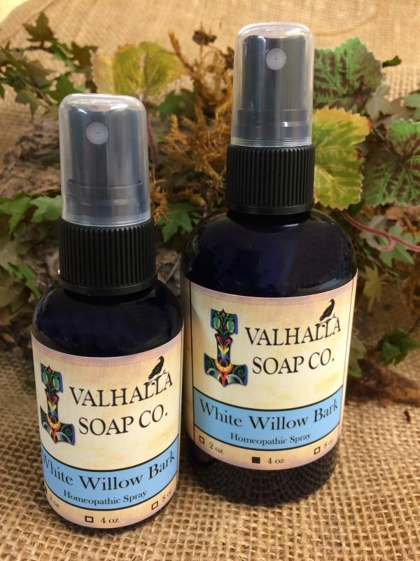 White Willow Bark Homeopathic Spray - Apothecary - Valhalla Soap Co.