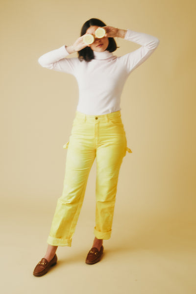 Dyed Dickies Pants In Turmeric