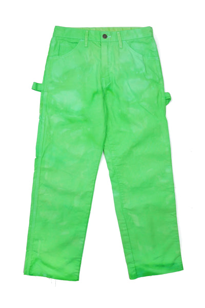 Dyed Dickies in Limeade