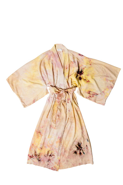 Raw Silk Robe in Nosara