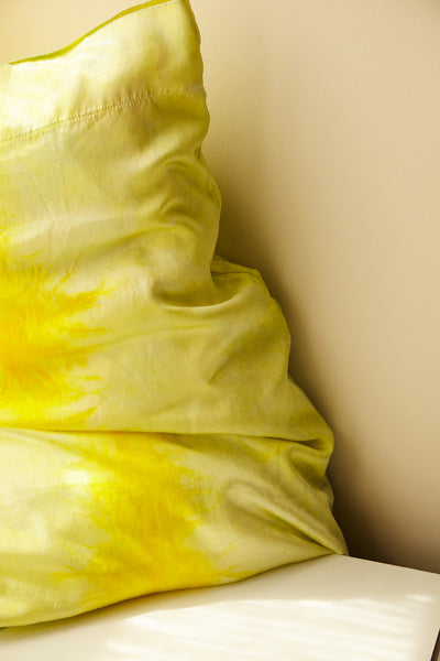 Silk Pillow Cases in Turmeric