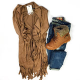 Suede + Fringe Vest - Collette's Closet Boutique