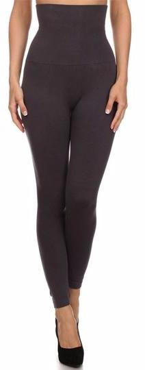 Tummy Control Fleece Lined Leggings - Charcoal - Collette