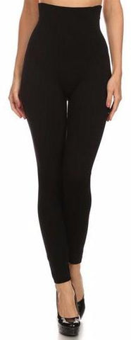 Tummy Control Fleece Lined Leggings - Black