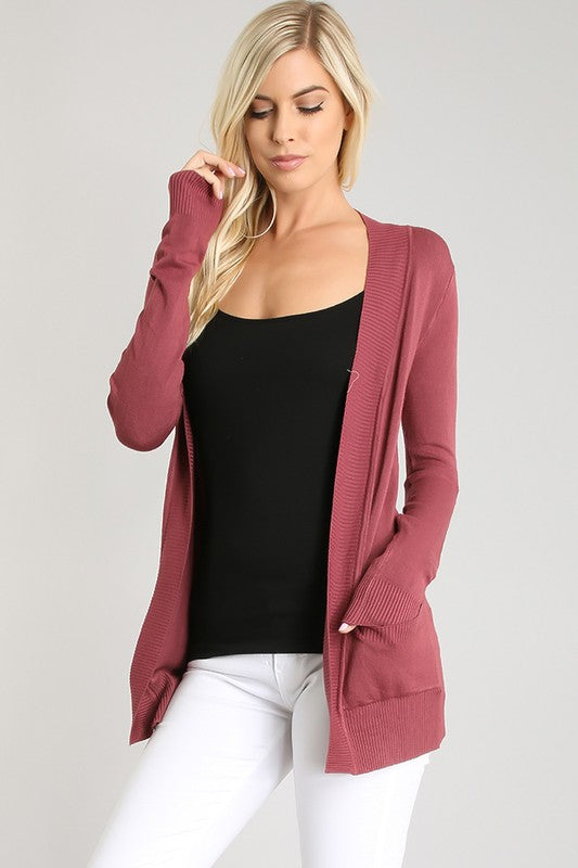 I Gotta Feeling Cardigan - Berry