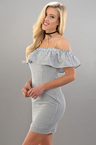 Too Cute Off The Shoulder Dress