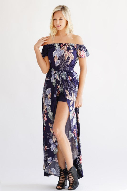 As Long As You Love Me Maxi Romper - Collette