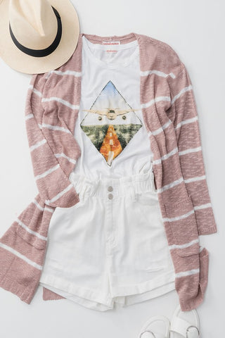 Light Up My Life Cardigan - Mauve
