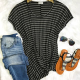 Stripes With A Twist Top - Black