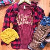 Campfire Classic Flannel Top - Collette's Closet Boutique