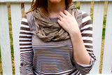 Spring Fling Infinity Scarf, Brown - Collette's Closet Boutique