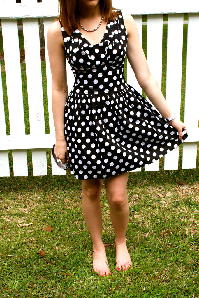 Pretty Polka Dot Dress - Collette