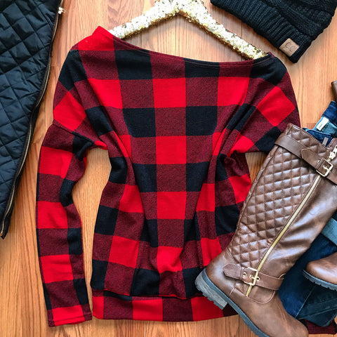 Cozy Chic Checkered Top