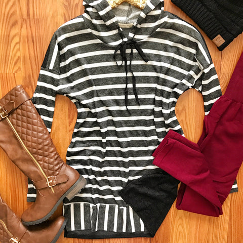 Wind Down Striped Tunic
