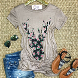 Deer Head Top - Collette's Closet Boutique