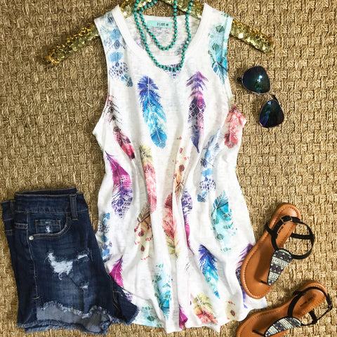 Tribal Feather Tank