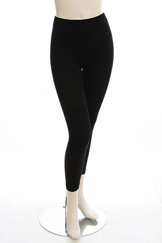 Black Seamless Fleece Lined Leggings