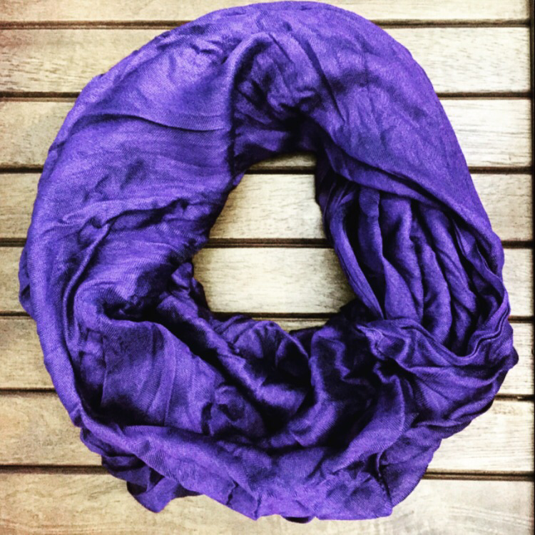 Eggplant Silk Infinity Scarf - Collette