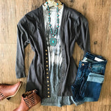 Falling For You Cardigan - Grey - Collette's Closet Boutique