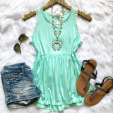 A Place In The Sun Top - Mint - Collette's Closet Boutique