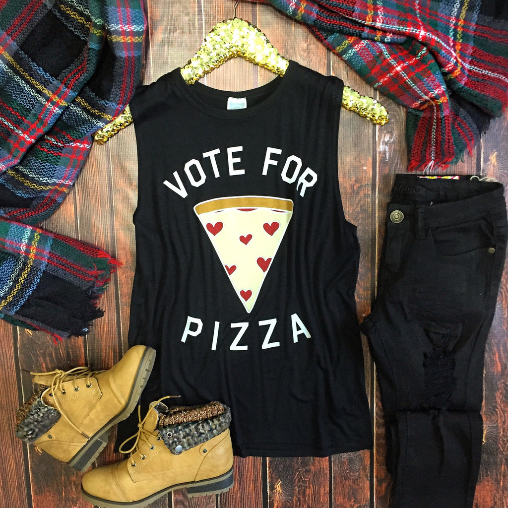 Vote For Pizza Tank - Collette