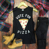 Vote For Pizza Tank - Collette's Closet Boutique