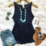 A Place In The Sun Top - Navy - Collette's Closet Boutique