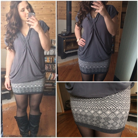Diamond Knit Skirt