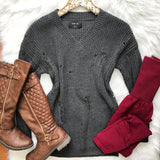 End Game Sweater - Gray - Collette's Closet Boutique