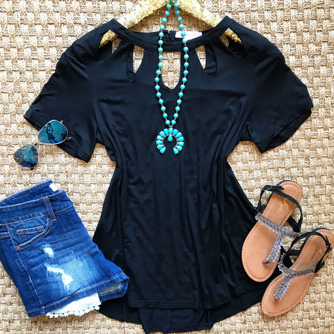 Romantic Revival Top - Black