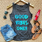 Good Vibes Only Tank - Collette's Closet Boutique