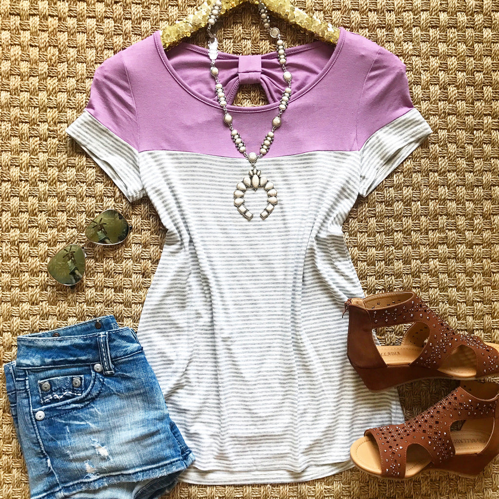 Sweet Lavender Bow Top - Collette