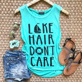 Lake Hair Don't Care Tank - Collette's Closet Boutique
