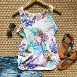 Tropical Pineapple Tank - Collette's Closet Boutique