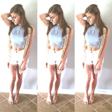 High Waisted And Frayed Shorts