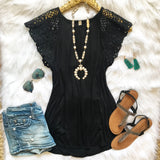Lacey Black Top - Collette's Closet Boutique